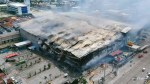 Drone video shows Philippines mall destroyed by fire, 38 dead
