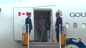 Prince Charles and Camilla arrive at CFB Trenton