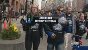 Rally held to protest police shooting of Anthony Heffernan