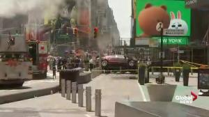 1 reportedly dead after car drives onto sidewalk near Times Square
