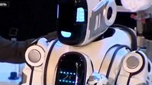 Russian state TV reports on robot which turns out to be man in costume