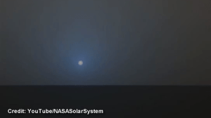 NASA releases video of blue sunset on Mars