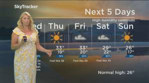 Global News Morning weather forecast: Wednesday July 3, 2019