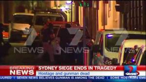 New angle of police assault on cafe in Sydney