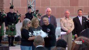 Doves released at Las Vegas shooting remembrance
