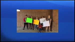 Centre Hastings Secondary School students protest sex-ed curriculum rollback