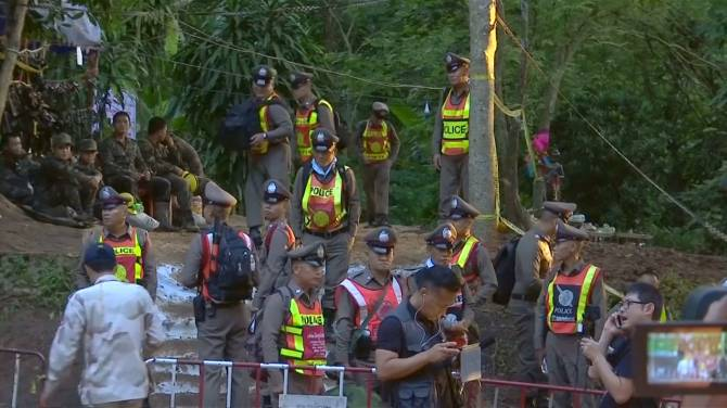 Image result for photos of boys stuck in thailand cave