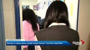 Bump in classroom size could mean cuts to Toronto teachers