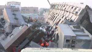 Survivor rescued from collapsed building after Taiwan earthquake