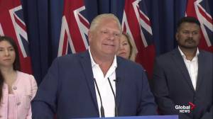 PC Leader Doug Ford reacts to leaked audio of him discussing guns