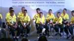 Thai boys soccer team attend exhibition to celebrate their dramatic rescue