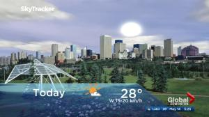 Edmonton early morning weather forecast: Monday, May 14, 2018