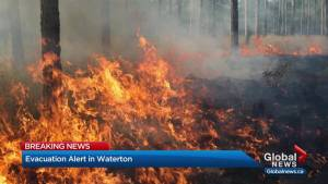 Wildfire near Waterton prompts evacuation alert