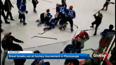 Mississauga hockey brawl involving 2 youth teams caught on