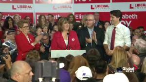 Whitby-Oshawa Liberal candidate joined on stage with Prime Minister Justin Trudeau, premier