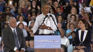 Obama campaigns in Nevada ahead of midterm election