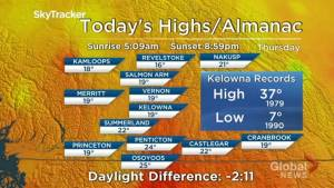Kelowna Weather Forecast: July 18