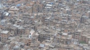 Aerials of destruction in Nepal from massive earthquake