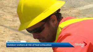 Outdoor workers at risk of heat exhaustion