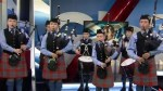 The Robert Malcolm Memorial Pipe Band celebrates Robbie Burns Day