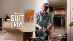 Moore's annual suit drive helping men returning to the workforce