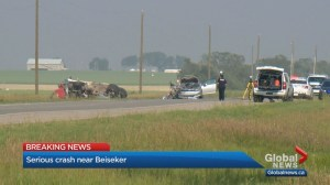 7-year-old boy in life-threatening condition after crash near Beiseker