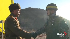 North and South Korean soldiers cross DMZ to inspect dismantled guard posts