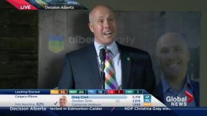 Alberta Election 2015: Greg Clark thanks supporters