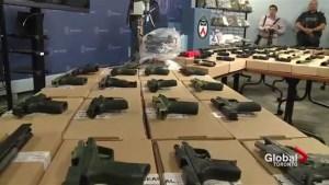 78 guns, drugs seized after criminal organization takedown: Toronto police