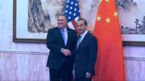 Pompeo's China visit begins with testy exchange