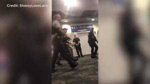Cellphone video shows local authorities entering Ft. Lauderdale airport