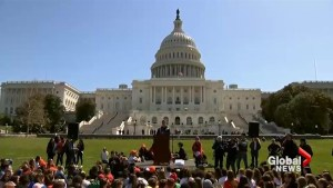 Students take to Capitol Hill to protest gun violence on anniversary of Columbine shooting