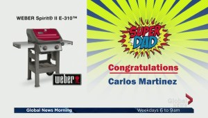 One lucky SuperDad wins a Weber BBQ