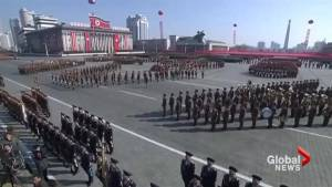 North Korea holds extravagant military parade on eve of Olympics in South