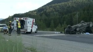 Collision leads to discovery of body on Coquihalla Highway