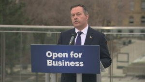 Kenney answers question about UCP candidate whose business was raided by police