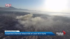 Suspected chemical attack kills at least 40 in Syria