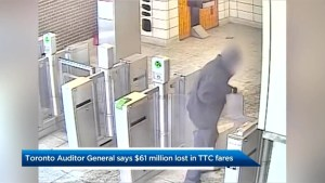 Fare evasion cost TTC $61M in 2018: auditor general