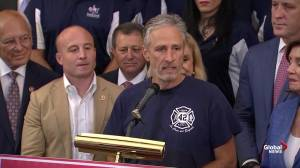 Jon Stewart urges Congress to authorize 9/11 victims compensation fund