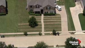 Texas man cuts Old Glory into his front lawn for 4th of July