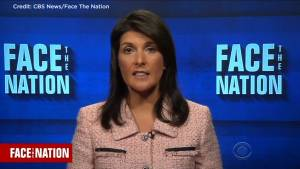 U.S. troops not leaving Syria until goals accomplished: Haley (01:41)