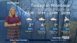Global News Morning weather forecast: Tuesday, November 13