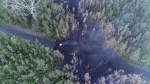 Drone video shows lava reaching homes in Hawaii after Kilauea volcano eruption