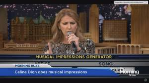Celine Dion performs musical impressions