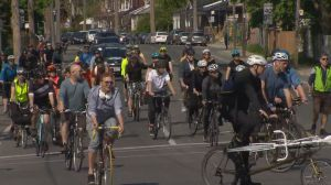 Ghost ride held in memory of cyclist struck by vehicle in Leslieville