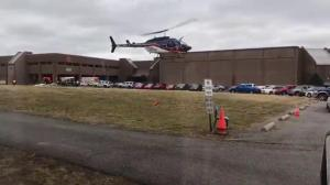 EMS helicopter departs scene of possible school shooting in Kentucky