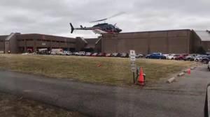 EMS helicopter departs scene of possible school shooting in Kentucky