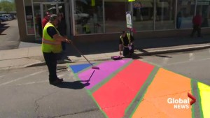 Rainbow crosswalk in Sussex once again stirring controversy
