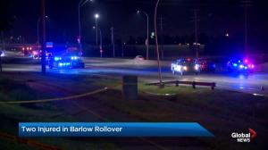 Two injured in Barlow Trail rollover
