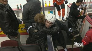 Emotional reunion between NHLer and junior hockey billets in Calgary